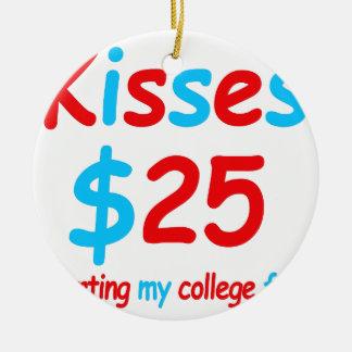 Küsse, die meine Unikapital beginnen Rundes Keramik Ornament