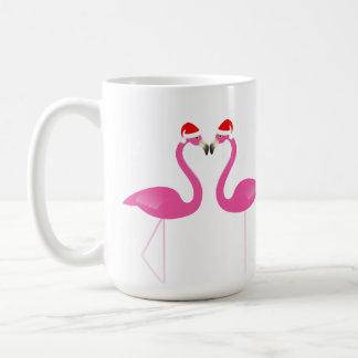 Küssen der Flamingo-Feiertags-Tasse Kaffeetasse