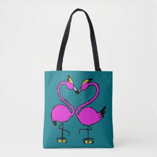 Küssen der Flamingo-Tasche Tasche