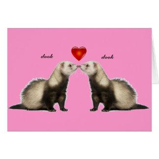 Küssen der Frettchen-Valentinsgruß-Karte Grußkarte