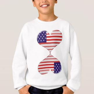 Küssen der USA-Herzflaggen-Kunstgeschenke Sweatshirt