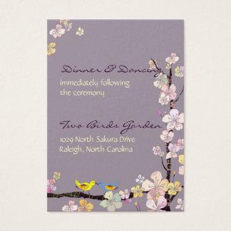 Küssen der Vögel, die den Empfang Wedding sind Visitenkarte