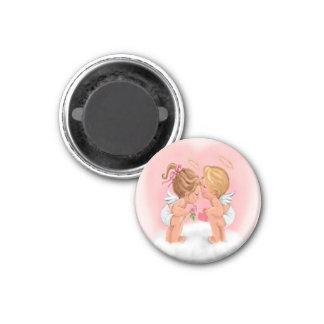 Küssen des Amor-Magneten Runder Magnet 2,5 Cm