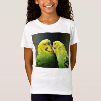 Küssen des Budgie Papageien-Vogels T-Shirt