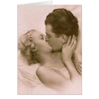 Küssen im Rosa Karte