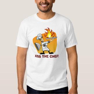 Küssen Sie das Kochs-Cartoon-T-Shirt Shirt