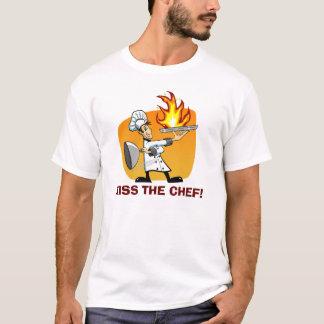Küssen Sie das Kochs-Cartoon-T-Shirt T-Shirt