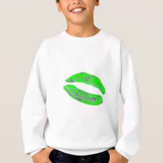 Küssen Sie grüne lila 20 Grad die MUSEUM Zazzle Sweatshirt