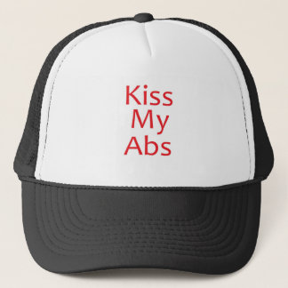 Küssen Sie mein ABS-Rot Truckerkappe