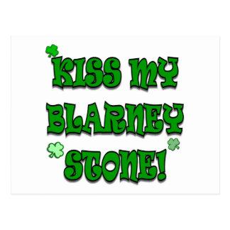 Küssen Sie mein Geschwätz-Stein-irisches Kleid und Postkarte
