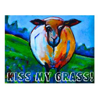Küssen Sie mein Gras! Postkarte