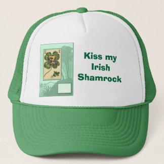 Küssen Sie mein irisches Kleeblatt Truckerkappe