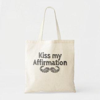Küssen Sie meine Bestätigungs-Taschentasche Tragetasche