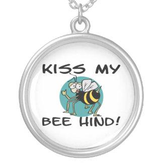 Küssen Sie meine Hinter Biene Versilberte Kette