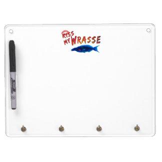 Küssen Sie meine Wrasse-Fische #2 Trockenlöschtafel Mit Schlüsselanhängern