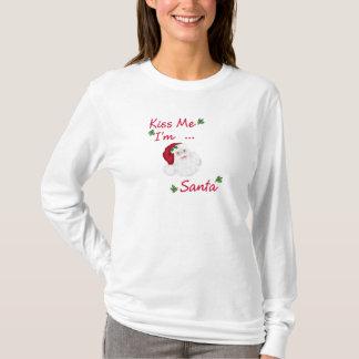 Küssen Sie mich, den ich Hülsen-Damen-T - Shirt