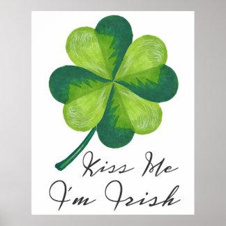 Küssen Sie mich, den ich irisch bin Poster
