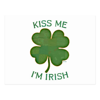 Küssen Sie mich, den ich irisch bin Postkarte