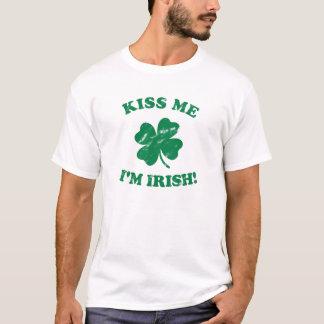 Küssen Sie mich, den ich irischer Vintager T - T-Shirt