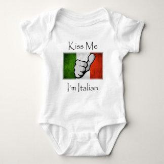 Küssen Sie MICH, den ich italienisch bin Baby Strampler