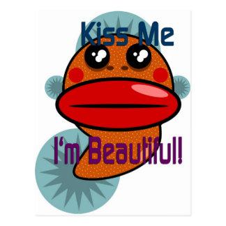 Küssen Sie mich, den ich schön bin Postkarte