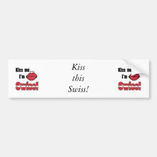 Küssen Sie mich, den ich Schweizer bin Autoaufkleber