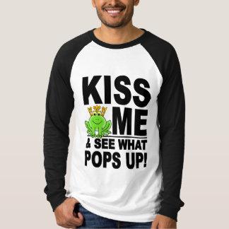 KÜSSEN Sie MICH Frosch-Shirt - wählen Sie Art u. Hemd