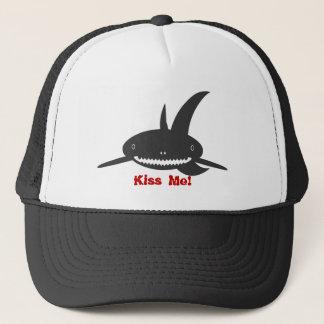 Küssen Sie mich Haifisch-Hut Truckerkappe