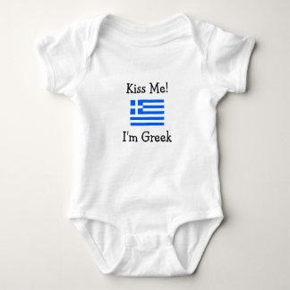Küssen Sie mich! Ich bin griechisch Baby Strampler