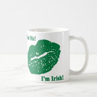 Küssen Sie mich! Ich bin irisch! Kaffeetasse