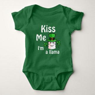 Küssen Sie mich, ich sind ein Lama Baby Strampler