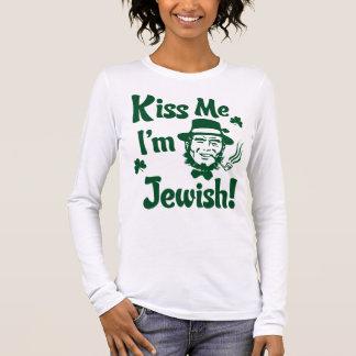 Küssen Sie mich, ich sind jüdisch Langarm T-Shirt