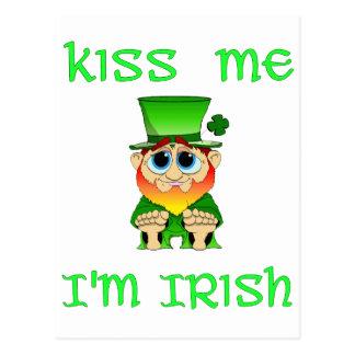 Küssen Sie mich Iren Im ~ Lil Geschwätz Postkarte