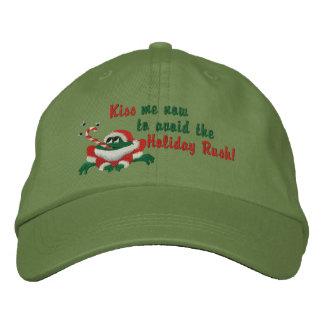 Küssen Sie mich jetzt Frosch Bestickte Baseballkappen