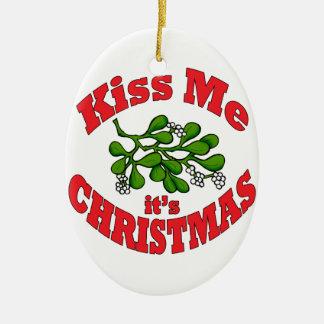 küssen Sie mich Ovales Keramik Ornament
