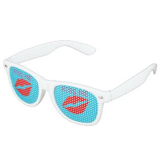 Küssen Sie mich Retro Sonnenbrillen