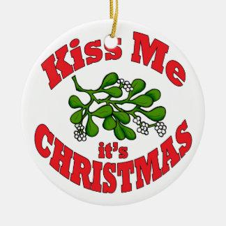 küssen Sie mich Rundes Keramik Ornament