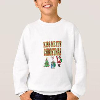 küssen Sie mich sein Weihnachten Sweatshirt