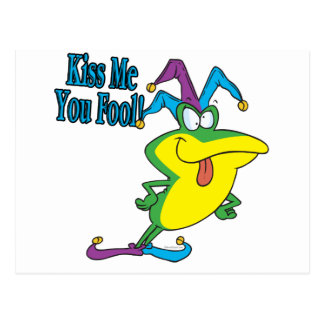 küssen Sie mich Sie Postkarte