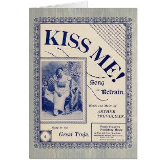 Küssen Sie mich - Vintage Valentine-Karte Karte
