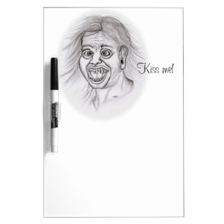 Küssen Sie mich! Zeichnen Sie das Zeichnen des Trockenlöschtafel
