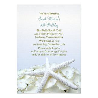 Küste-Gartenstarfish-Geburtstags-Party Einladung