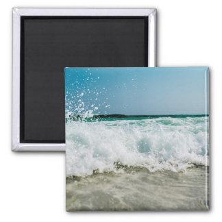 Küste-Meerblick bewegt Strand wellenartig Quadratischer Magnet