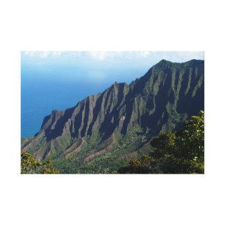 Küste Na Pali auf Kauai-Leinwanddruck Leinwanddruck