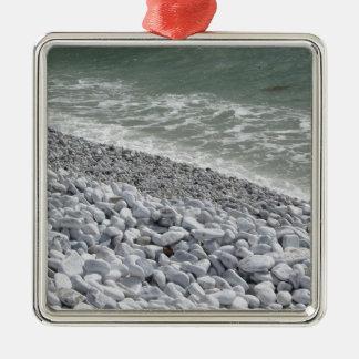 Küste von Jachthafendi Pisa-Strand an einem Silbernes Ornament