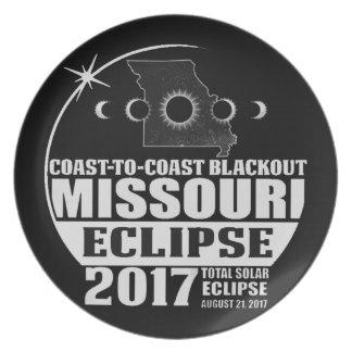 Küste, zum von Missouri-Eklipse 2017 die Küste Teller