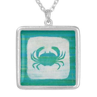 Küsten| Aqua-Krabbe Versilberte Kette