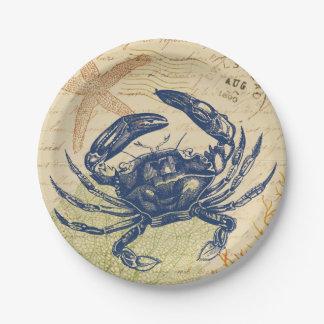 Vintage krabbe wohndekoration haustierzubeh r for Blaue pappteller