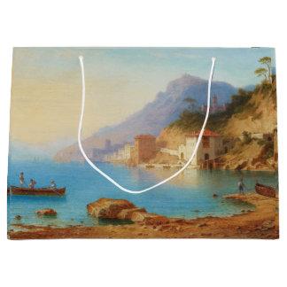Küsten-Boots-Ozean-Sommer-Geschenk-Tasche Amalfis Große Geschenktüte