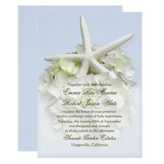 Küsten-Garten-Weiß-Blumenhochzeits-Einladung 12,7 X 17,8 Cm Einladungskarte